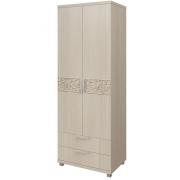 Шкаф для белья 2-х дверный с ящиками Ирис-08
