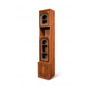 Шкаф для книг 1-дверный со стеклом Азалия Н