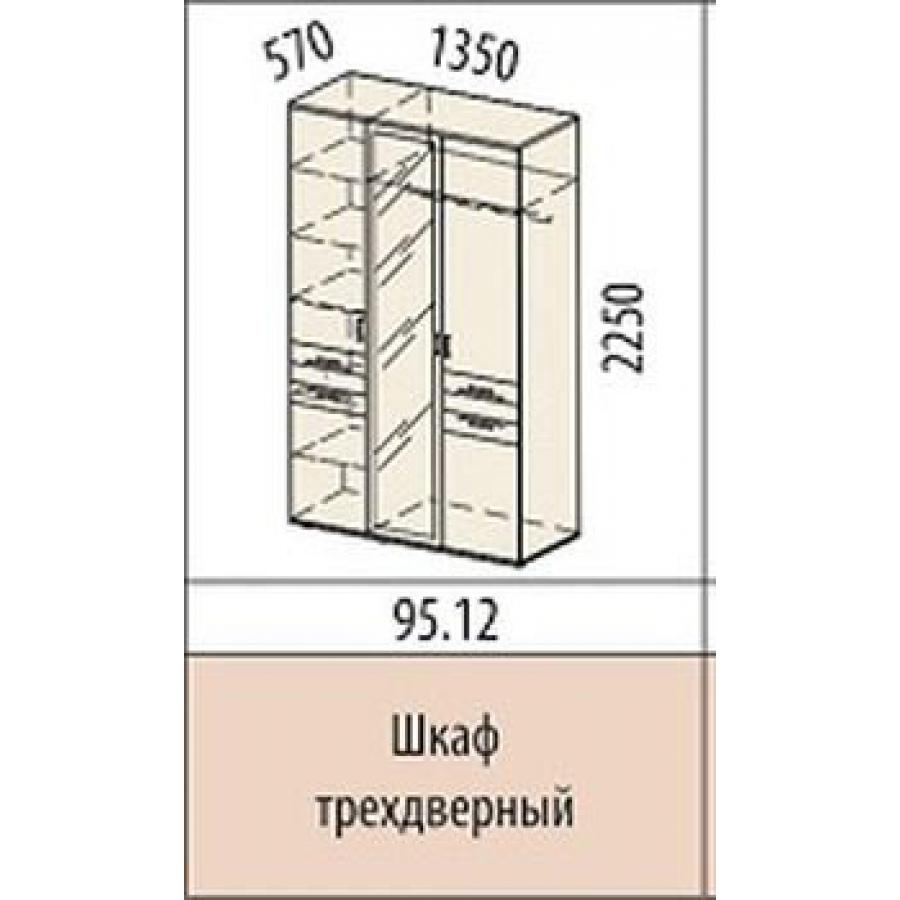 схема трехдверного шафа