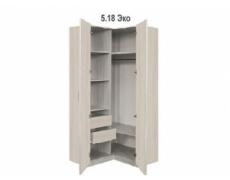 Шкаф для одежды угловой без зеркала Эко 5.18