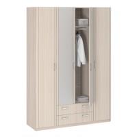 Шкаф 4-х дверный с зеркалом Лотос 8.041