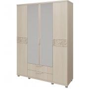 Шкаф для одежды 4-х дверный с ящиками Ирис-06 бодега