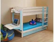 Кровать Двухъярусная Массив с ящиками (трансформер-новый)