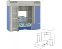 Тетрис-1 366 Кровать-чердак с диваном