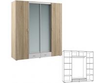 Шкаф комбинированный Линда 312