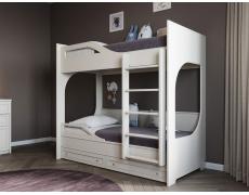 Двухъярусная кровать с ящиками Лауро