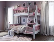 Двухъярусная кровать Люкс Розовый