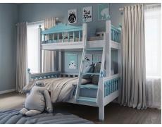 Двухъярусная кровать Люкс Небесно голубой