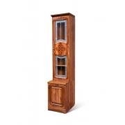 Шкаф для книг 1-дверный со стеклом Азалия 12