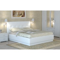 Кровать интерьерная кожаная с латами Локарно Boom