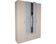 Шкаф 4-х дверный Лотос 8.04 с зеркалом
