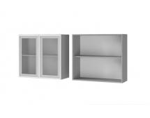Шкаф настенный 2-дверный со стеклом 8В2