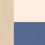 Береза снежная-синий шагрень/ваниль шагрень