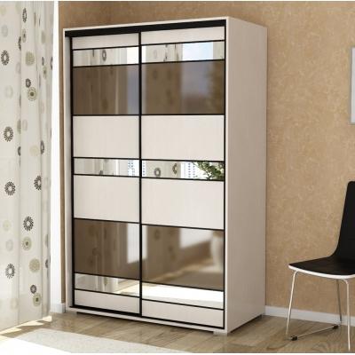 Двухстворчатый шкаф-купе для спальни или прихожей Панорама-10