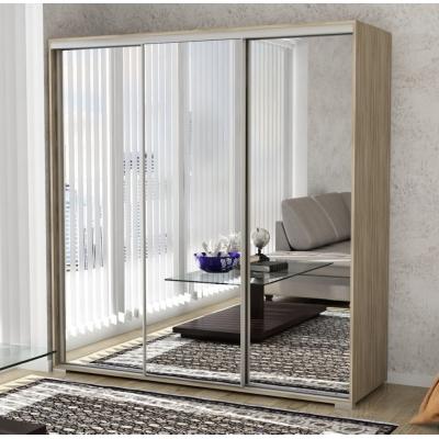 3 дверный шкаф-купе с зеркалами Панорама-11