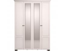 Шкаф для одежды Лукреция-1 с карнизом и зеркалом