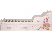 Кровать на 900 с ящиками Принцесса 5 (комплектация 1)