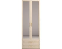 Шкаф для одежды 2-х дв. Скандинавия-Люкс-1 с зеркалом