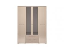 Шкаф 4-х дверный с ящиком Вива-9 с зеркалами