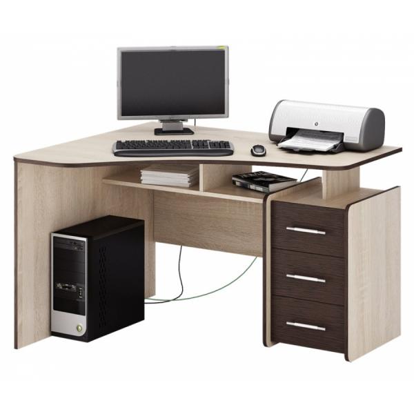 угловой письменный стол с тумбой триан 5