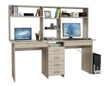 Письменный стол на двоих Тандем-2Я с надставкой