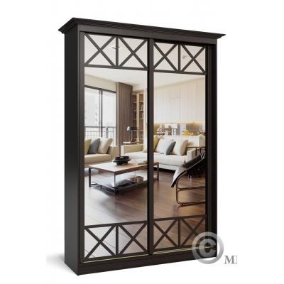 Шкаф-купе с зеркалами в гостиную Премиум-1