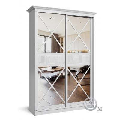 Двухстворчатый шкаф-купе с зеркалом для спален Премиум-2