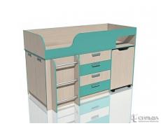 Кровать с выкатным столом Рико НМ 011.56