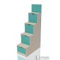 Лестница с ящиками НМ 011.64 Аква(402/880/1610)
