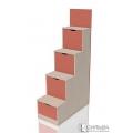 Лестница с ящиками НМ 011.64 Коралл(402/880/1610)