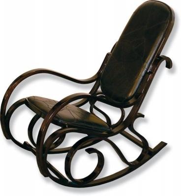 Кресло-качалка 20048 кожа