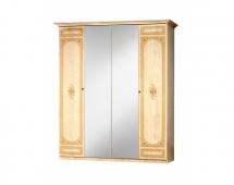 Шкаф 4-х ств. для платья и белья с зеркалами Европа-11 111/541