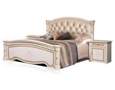 Кровать 2-х спальная Карина-3 К3КР-3[1] с мягким изголовьем