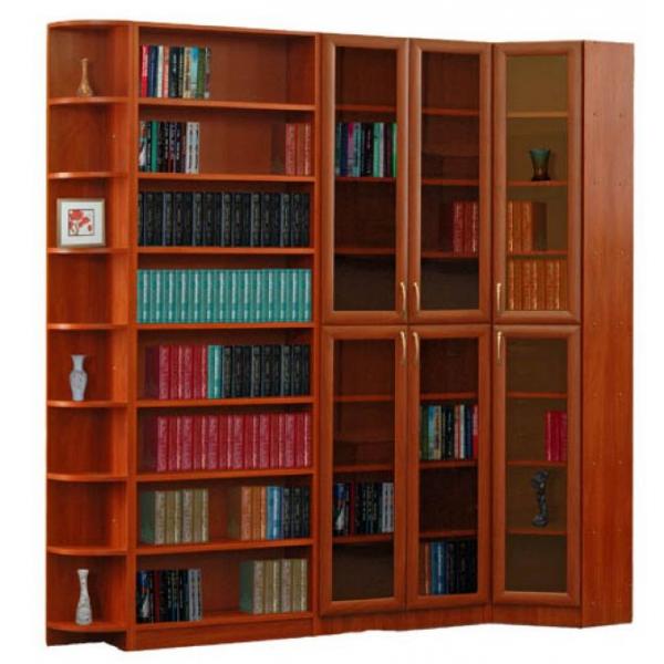 """Угловой шкаф-библиотека """"талисман""""."""