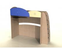 Кровать с лестницей ДК-12 Капитошка