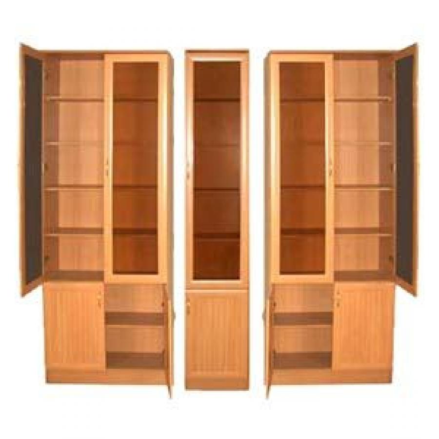 """Книжный шкаф """"верона-2"""" 2400мм с тонированным стеклом."""