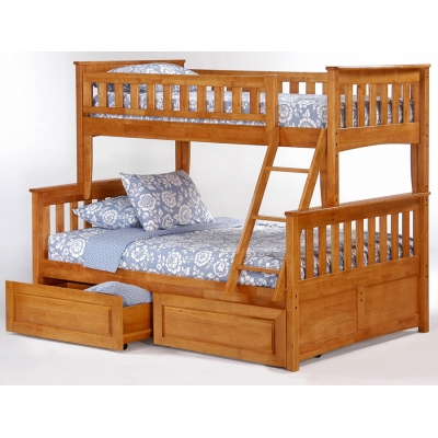 Кровать двухъярусная Модерн с ящиками