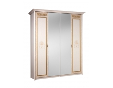 Шкаф 4-х ств. для платья и белья (2 зеркала) Карина-3 К3Ш1/4