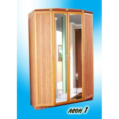 4-х створчатый распашной шкаф с зеркалами Леон-1