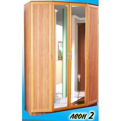 4-х дверный распашной шкаф с зеркалами Леон-2