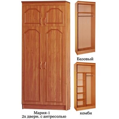 2-х створчатый распашной шкаф с антресолью Мария-1 (2+А)